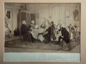 Kant und seine Tischgenossen (Bildausschnitt)