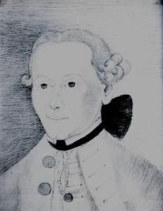 Kant. Drawing by countess Keyserling