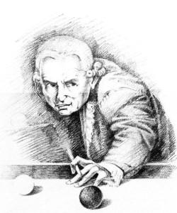 Портрет Канта. Рисунок ручкой. М.Басьюл.