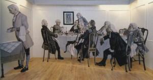 Сцена из жизни Кант и его гости за обедом.