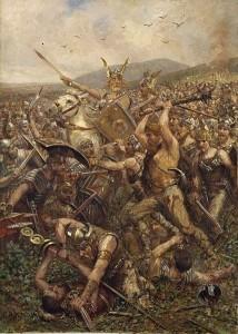 Битва в Тевтобургском лесу. О. А. Кох, 1909 г.