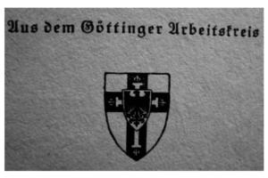 Рис. 15. Знак Гёттингенской рабочей группы на фронтисписе