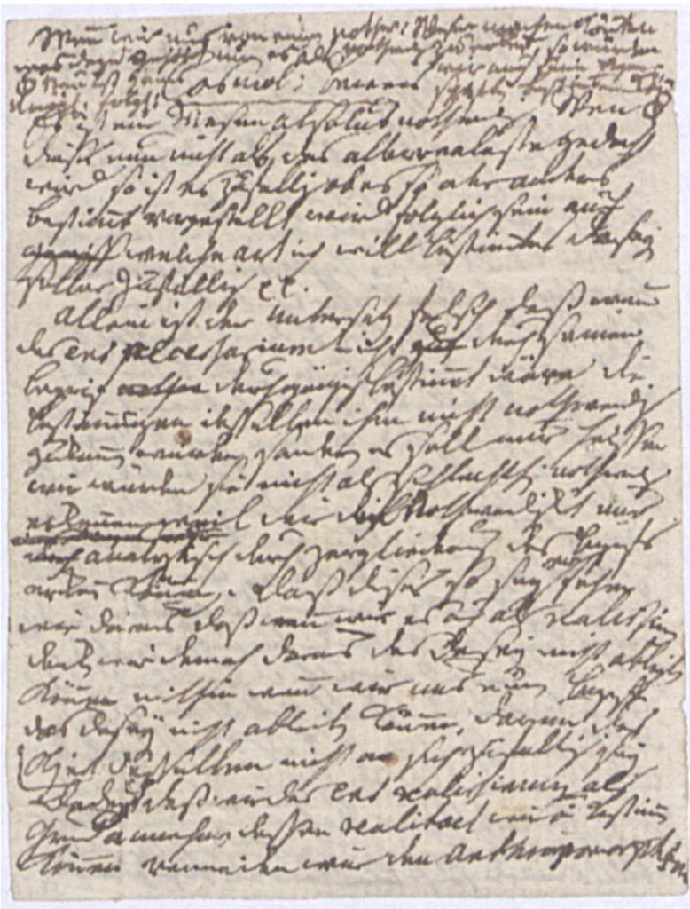 Рис. 2. . Вторая страница записки И. Канта