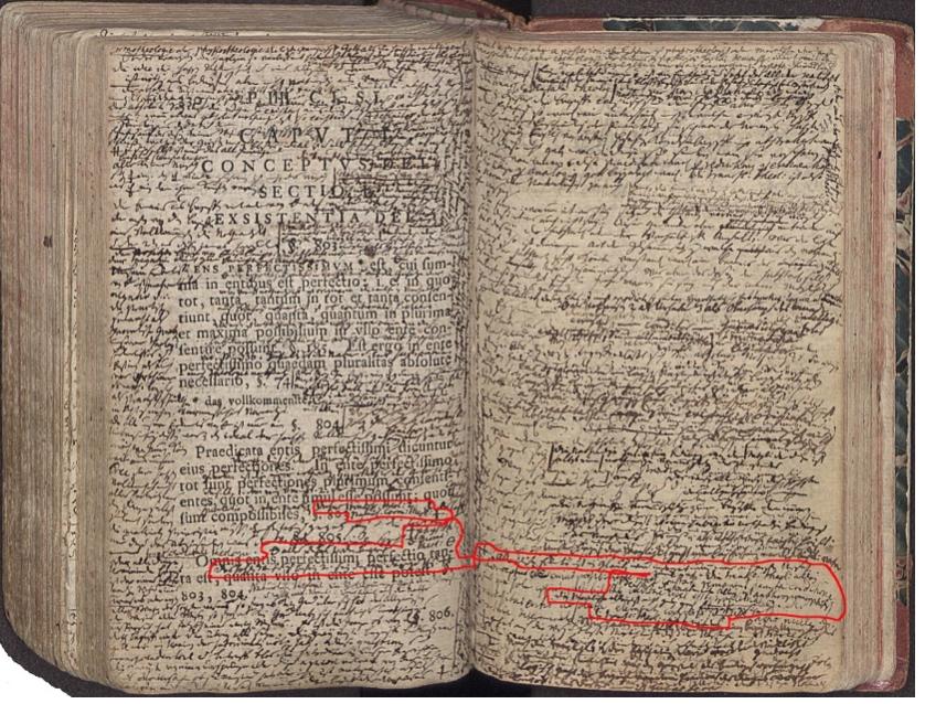 Рис. 5. Разворот с началом «части IIII»  в кантовском экземпляре «Метафизики» Баумгартена